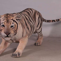 Tiger Siberian Crouching  Animal Prop Life Size Decor Resin Statue- LM Treasures