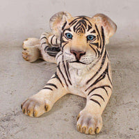 Tiger Siberian Cub Laying Animal Prop Life Size Decor Resin Statue - LM Treasures Life Size Statues & Prop Rental