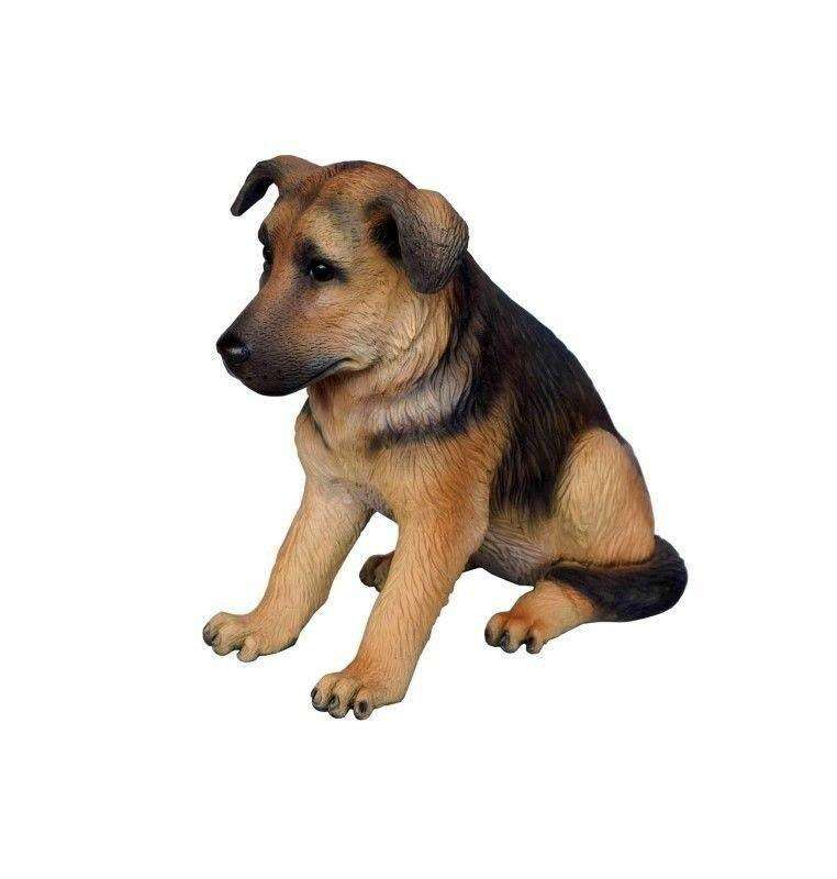 Dog German Shepard Puppy Animal Prop Life Size Deecor  Resin Statue- LM Treasures