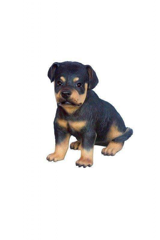 Dog Rottweiler Puppy Animal Prop Life Size Deecor  Resin Statue - LM Treasures Life Size Statues & Prop Rental