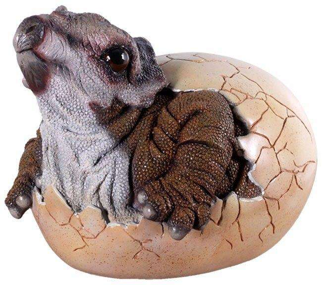 Dinosaur Triceratops Baby Egg Hatching Prehistoric Prop Resin Statue