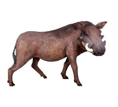 Pig Wild African Warthog Animal Prop Life Size Decor Resin Statue- LM Treasures