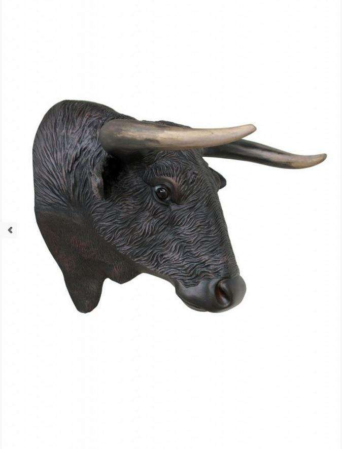 Bull Head Cow Farm Prop Life Size Decor Resin Statue- LM Treasures