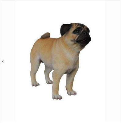 Dog Pug Animal Prop Life Size Deecor  Resin Statue - LM Treasures Life Size Statues & Prop Rental