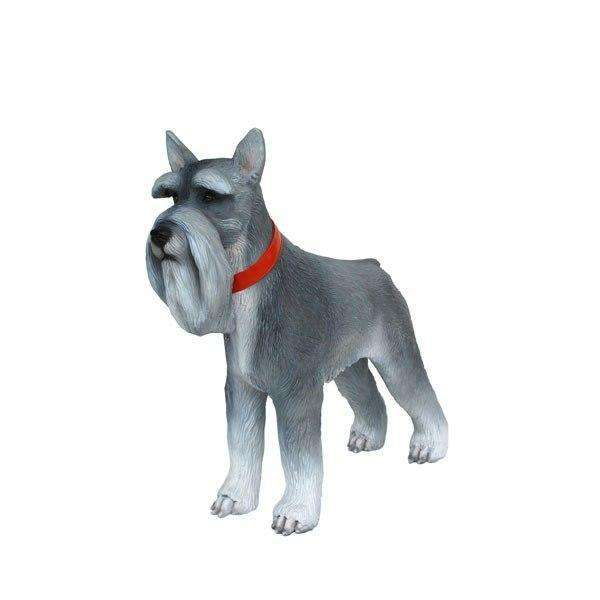 Dog Schnauzer Miniature Animal Prop Life Size Décor  Resin Statue