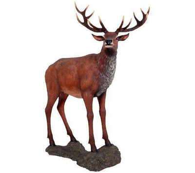 Deer Stag On Base Animal Prop Life Size Decor Resin Statue- LM Treasures