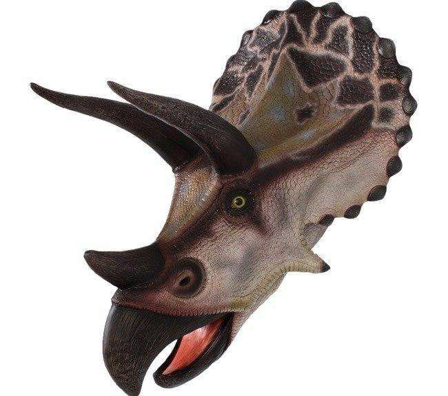 Triceratops Dinosaur Head Large Life Size Statue - LM Treasures Life Size Statues & Prop Rental