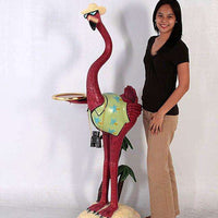 Comic Bird Flamingo Tourist Animal Prop Life Size Resin Statue - LM Treasures - Life Size Statue