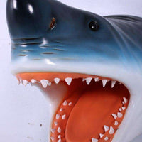 Shark Great White Head # 2 Wall Decor Sea Prop Resin Statue- LM Treasures