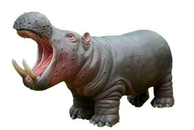 Hippo Mouth Open Wild Animal Prop Life Size Decor Resin Statue - LM Treasures Life Size Statues & Prop Rental