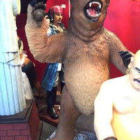 Brown Growling Grizzly Bear Life Size Statue - LM Treasures Life Size Statues & Prop Rental