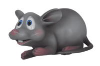 Comic Mouse Laying Over Sized Statue - LM Treasures Life Size Statues & Prop Rental