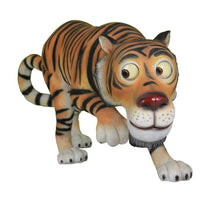 Tiger Bengal Comic Animal Prop Life Size Decor Resin Statue - LM Treasures Life Size Statues & Prop Rental