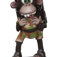 Comic Monkey Animal Prop Resin Decor Statue - LM Treasures Life Size Statues & Prop Rental