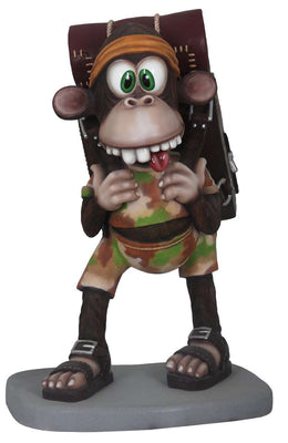 Comic Monkey Animal Prop Resin Decor Statue - LM Treasures - Life Size Statue