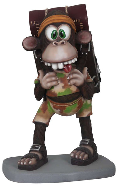 Comic Safari Monkey Life Size Statue - LM Treasures Life Size Statues & Prop Rental