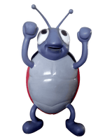 Comic Beetle Over Sized Statue - LM Treasures Life Size Statues & Prop Rental