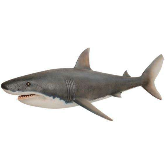 Large Great White Shark Life Size Statue - LM Treasures Life Size Statues & Prop Rental