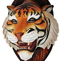 Bengal Tiger Head Life Size Statue - LM Treasures