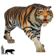 Tiger Bengal  Animal Prop Life Size Decor Resin Statue - LM Treasures Life Size Statues & Prop Rental