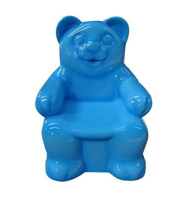 Candy Gummy Bear Chair 2.5 ft Blue Small Over sized Display Resin Prop Decor Statue - LM Treasures Life Size Statues & Prop Rental