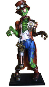 Comic Steampunk Zombie Life Size Halloween Decor Prop Statue - LM Treasures Life Size Statues & Prop Rental