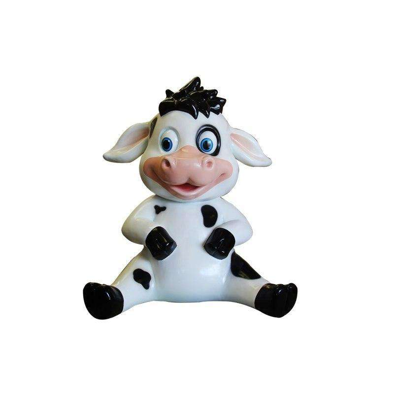 Comic Cow Calf Animal Prop Resin Decor Statue - LM Treasures Life Size Statues & Prop Rental