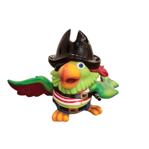 Comic Pirate Parrot Over Sized Statue - LM Treasures Life Size Statues & Prop Rental
