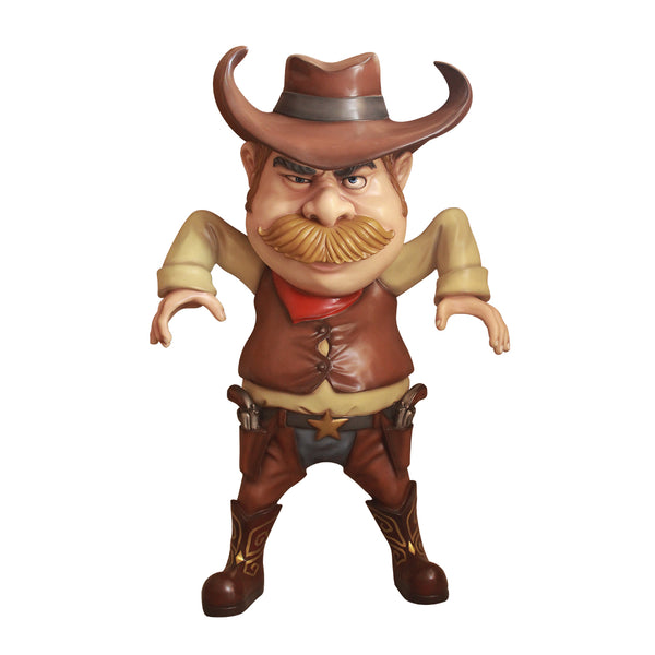 Comic Cowboy Drawing Western Display Prop Decor Resin Statue - LM Treasures Life Size Statues & Prop Rental
