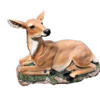 Deer Buck Laying Animal Prop Life Size Resin Statue - LM Treasures Life Size Statues & Prop Rental