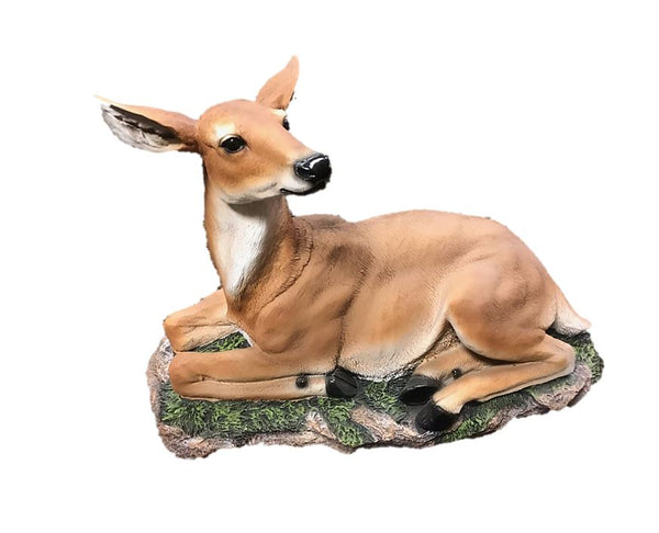 Buck Deer Laying Statue - LM Treasures Life Size Statues & Prop Rental