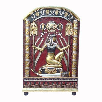 Egyptian Furniture Hieroglyphic Cabinet Life Size Prop Decor Resin Statue- LM Treasures