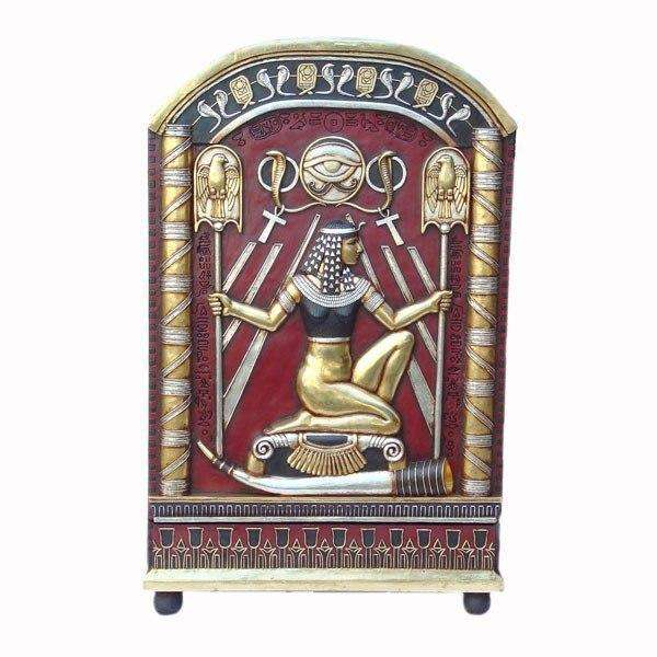 Egyptian Furniture Hieroglyphic Cabinet Life Size Prop Decor Resin Statue - LM Treasures