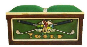 Golf  Bench Storage Chest Golf Clubs Game Room - LM Treasures Life Size Statues & Prop Rental