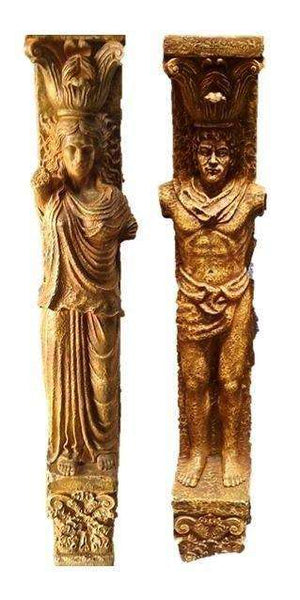 Columns Set of Two God & Goddess - LM Treasures - Life Size Statue