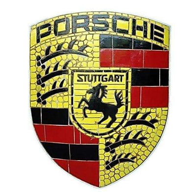 Mosaic Sign Porsche Emblem Look Alike Wall Decor Resin Statue - LM Treasures Life Size Statues & Prop Rental