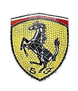 Mosaic Sign Ferrari Emblem Look Alike Wall Decor Resin Statue - LM Treasures Life Size Statues & Prop Rental