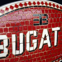 Mosaic Sign Bugatti Emblem Look Alike Wall Decor Resin Statue - LM Treasures Life Size Statues & Prop Rental