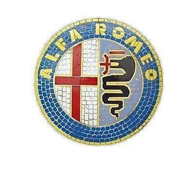 Mosaic Sign Alfa Romeo Emblem Look Alike Wall Decor Resin Statue - LM Treasures Life Size Statues & Prop Rental