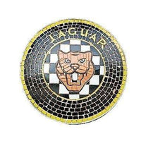 Mosaic Sign Jaguar Emblem Look Alike Wall Decor Resin Statue - LM Treasures Life Size Statues & Prop Rental