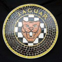 Mosaic Sign Jaguar Emblem Look Alike Wall Decor Resin Statue- LM Treasures