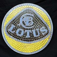 Mosaic Sign Lotus Emblem Look Alike Wall Decor Resin Statue - LM Treasures Life Size Statues & Prop Rental