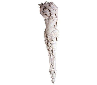Stone Column Lady Pilaster Large Greek Roman Prop Resin Decor- LM Treasures