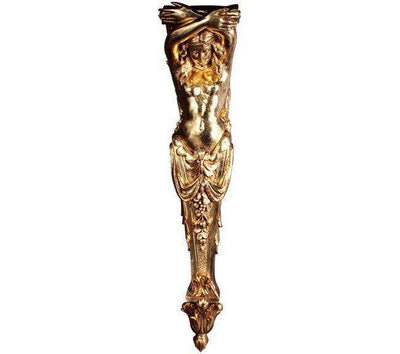 Stone Column Lady Pilaster Gold Greek Roman Prop Resin Decor- LM Treasures
