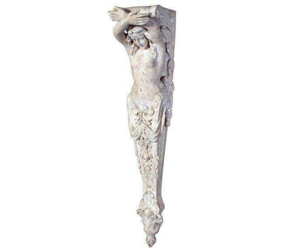 Stone Column Lady Pilaster Small Greek Roman Prop Resin Decor- LM Treasures