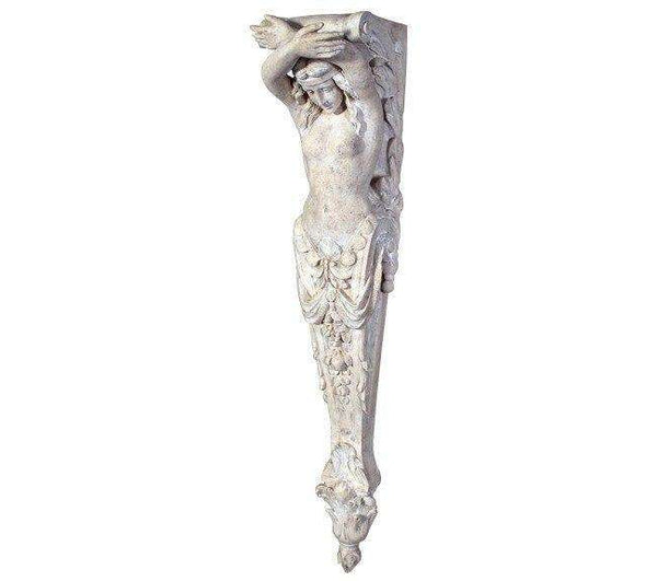 Stone Column Lady Pilaster Small Greek Roman Prop Resin Decor - LM Treasures Life Size Statues & Prop Rental