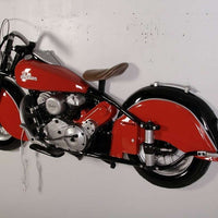 Motorcycle American 6' Wall Decor Resin Prop Statue - LM Treasures Life Size Statues & Prop Rental