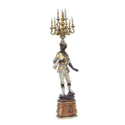 Arabian With Chandelier (Right) Statue Decor- LM Treasures