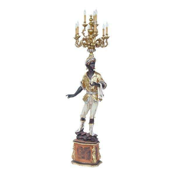 Arabian With Chandelier (Left) Statue Decor - LM Treasures Life Size Statues & Prop Rental