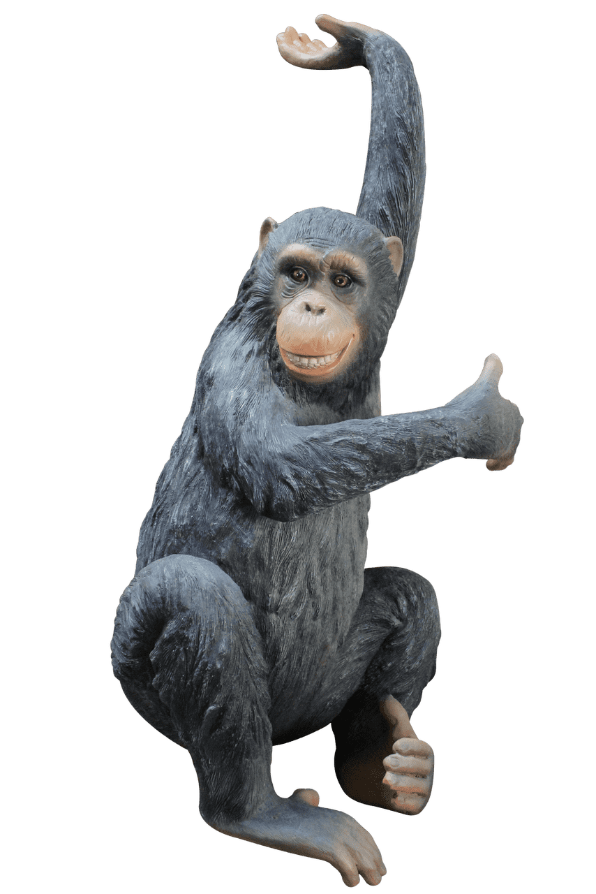 Monkey Chimpanzee Bing Life Size Statue - LM Treasures Life Size Statues & Prop Rental